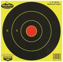 Birchwood Casey Dirty Bird Bull's-Eye Targets, 8 Pack
