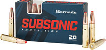 Hornady Subsonic 300 AAC Blackout/Whisper 190gr, Sub-X, 20rd Box