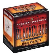 Federal Premium Black Cloud Waterfowl High Velocity 12 Gauge 3 Inch 1635 FPS 1.125 Ounce Size 4 Shot 25 Per Box