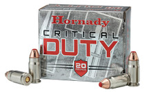 Hornady Critical Duty 9mm +P 124gr, FlexLock 20rd Box