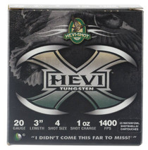 "HEVI-Shot Hevi-X Waterfowl 20 Ga, 3"", 1oz, 4 Shot, 25rd/Box"