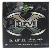 "HEVI-Shot Hevi-X Waterfowl 12 Ga, 3.5"", 1-3/8oz, BB Shot, 25rd/Box"
