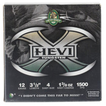 "HEVI-Shot Hevi-X Waterfowl 12 Ga, 3.5"", 1-3/8oz, 4 Shot, 25rd/Box"