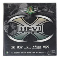 "HEVI-Shot Hevi-X Waterfowl 12 Ga, 3.5"", 1-3/8oz, 2 Shot, 25rd/Box"