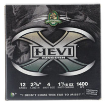 "HEVI-Shot Hevi-X Waterfowl 12 Ga, 2.75"", 1-1/16oz, 4 Shot, 25rd/Box"