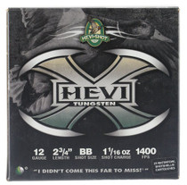 "HEVI-Shot Hevi-X Waterfowl 12 Ga, 2.75"", 1-1/16oz, BB Shot, 25rd/Box"