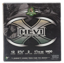 "HEVI-Shot Hevi-X Waterfowl 12 Ga, 2.75"", 1-1/16oz, 2 Shot, 25rd/Box"