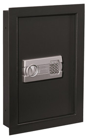 Stack-On Electronic Lock In-Wall Safe, 15.31 x 3.94 x 22.17, Black