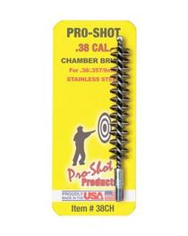 Pro-Shot .38/.357 Cal. Stainless Steel Chamber Brush