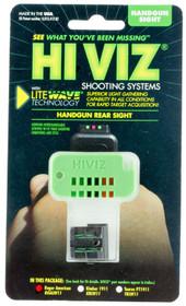 Hiviz LiteWave Ruger American Green/Red/Black Rear Black