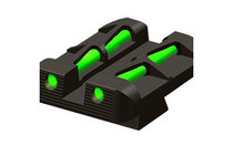 Hiviz LiteWave Rear Glock 10mm/45 ACP/45GAP Fiber Optic Green Steel Black