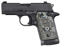 Sig P938 9MM 3IN Extreme Black SAO Siglite Black/Gray G10 Grip (1) 7RD Steel MAG Ambi Safety