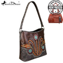 Montana West Concho Collection Concealed Carry Hobo Bag, Coffee#2
