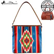 Montnana West Serape Concealed Handgun Collection Handbag - Turquoise