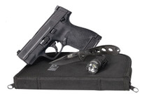 "Smith & Wesson M&P9 Shield 2.0 EDC 9mm 3"" Barrel, Knife, Light and Zipper Pouch, 2- 8rd Mags"
