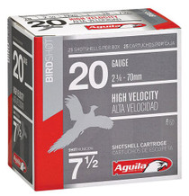 Aguila 20 Ga, 8 Shot, 1oz, 250rd/Case