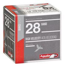"Aguila Hunting High Velocity 28 Ga, 2.75"", 3/4oz, 9 Shot, 25rd/Box"