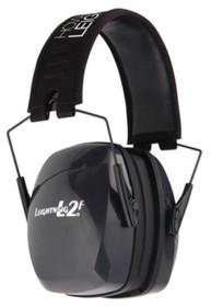 Howard Leight Leightning L2f Folding Earmuff Black Headband With Charcoal Gray Earcups