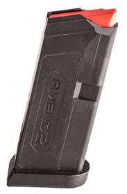 Amend2 Glock 43 Magazine, Black, 6rd