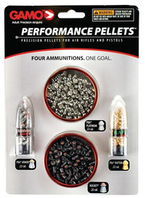 Gamo Performance Pellets .22 Caliber, Combination Pack, 225 Pellets