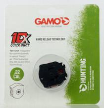 Gamo 10X Quick Shot Magazine .22 Caliber, Swarm Air Rifle, 10rd