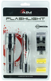 Aim Sports Flashlight With Offset Mount 500 Lumens, Black