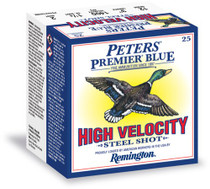 "Peters Premier Blue High Velocity Steel 12 Ga, 3"", BB, 250rd/Case"