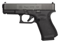 "Glock 19 Gen 5 MOS Compact 9MM, 4"" Barrel, Fixed Sights, 3- 15Rd Mags, Front Serrations, Ambi Slide Stop, Gen5"