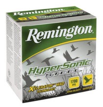 "Remington HyperSonic Steel 12 Ga, 3"", 1700 FPS, 1.25 oz, 2 Shot 25rd/Box"