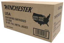 Winchester 223 Rem/5.56 NATO 55gr, Full Metal Jacket, 1000rd/Box