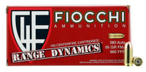 Fiocchi 380 ACP Range Pack 95gr, FMJ, 1000rd/Case