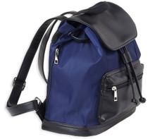 Bulldog Backpack Style Purse, Ambidextrous Zippered Pistol Pocket, Universal Handgun Holster, Leather, Navy/Black
