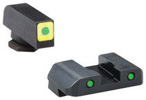 AmeriGlo Cap LE Tritium Sight Set Glock 17/19 Green/Green