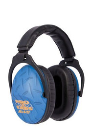 Pro Ears ReVo Earmuff, Youth, NRR26, Blue Diamond Plate