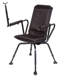 BenchMaster Sniper Seat Shooting Chair, Foldable, Adjustabel Leg, Black