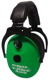 Pro Ears ReVo Electronic Earmuff, NRR25, Neon Green