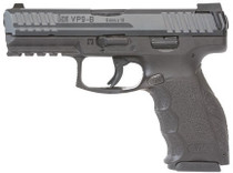 "HK, VP9-B 9MM, 4"" Barrel Black Finish, 3 Dot Sights, 2- 15Rd Mags, Push Button Magazine Release"