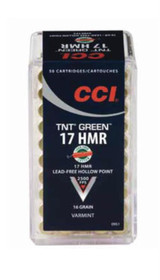 CCI Varmint 17 HMR, 16gr, TNT Hollow Point, 50rd/Box, 40 Boxes/Case
