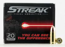Ammo Inc. Streak 9mm Tracer Ammunition, 147 gr. Total Metal Jacket, 20rd/Box