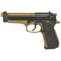 "Beretta 92FS 9MM, 4.9"" Barrel Burnt Bronze Finish Ambi Safety 3 Dot Sights 2- 15rd Mags"