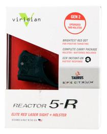 Viridian Reactor R5 Gen2 Laser, Red, Holster Included, Taurus Spectrum
