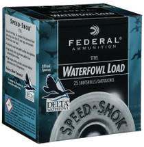 "Federal Speed-shok 12 Ga, 3"", 1 1/4oz, 1550 FPS, 25rd/Box"