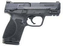 """Smith & Wesson, M&P 2.0, Striker Fired, Compact 9MM, 3.6"""" Barr Black, 15Rd, Thumb Safety, Fixed Sights"""