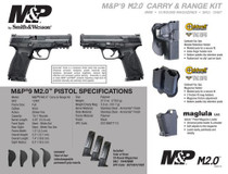 """Smith & Wesson M&P9 M2.0 9mm, 4.25"""", Carry and Range Kit, 3x10rd"""
