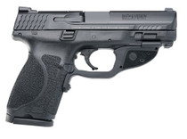 """Smith & Wesson M&P9C M2.0 9mm, 4"""", NTS Crimson Trace Green, 15rd"""