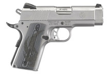 "Ruger SR1911 45 ACP, 3.6"", Gray G10 Grips, Stainless Steel, 7rd"