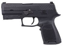 "Sig P320 Compact 9mm Double, 3.9"",Black, Lima320 Red Laser Grip, NS, Black Nitron SS Slide, 15rd"