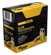 Sig Elite Ball 380 ACP 100gr, Full Metal Jacket, 200rd/Box