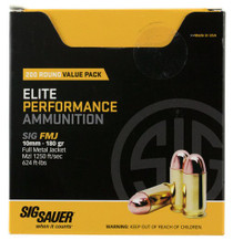 Sig Elite Ball 10mm 180gr, Full Metal Jacket, 200rd/Box