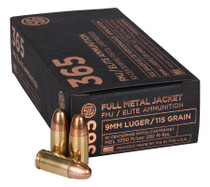 Sig Elite 9mm 115gr, FMJ, 50rd/Box